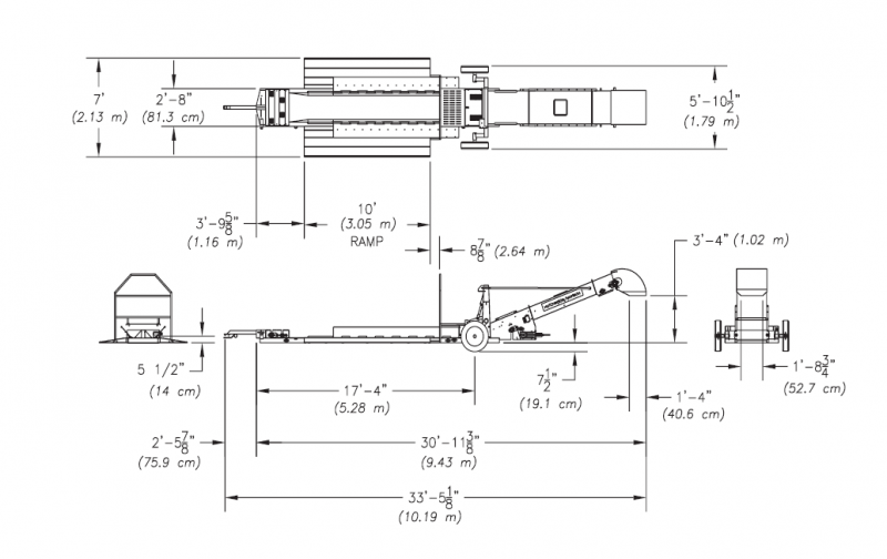 Hutchinson Drive-Over Belt Conveyor w/ Electric Drive w/ Hydraulic Power  Unit | Hydraulic Conveyor Schematic |  | Grain Handling Solutions