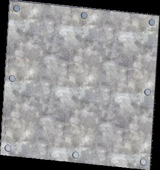 """RIPCO Distribution - 6""""RIPCODistribution 10GA Galvanized Square Flat Plate"""