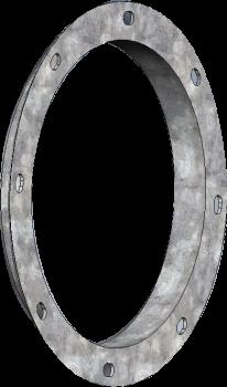 "RIPCO Distribution - 6""RIPCODistribution Round Black Angle Ring"