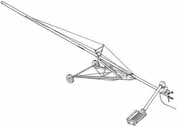 "Hutchinson - 8"" X 72' Hutchinson Swing-Away Gear Drive Auger"