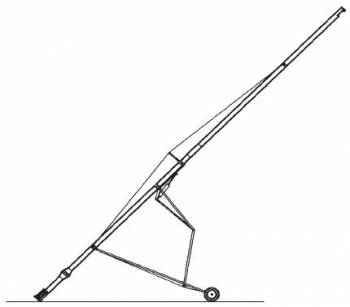 """Hutchinson - 10"""" x 72' Hutchinson Painted In-Line Drive Auger w/ Electric Drive & Hydraulic Lift"""