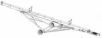 """Hutchinson - 13"""" Hutchinson 62' Galvanized Century II Auger w/ PTO Drive"""