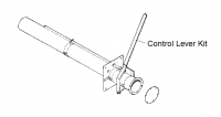 "6"" Hutchinson Control Lever Kit for Bin Flange"