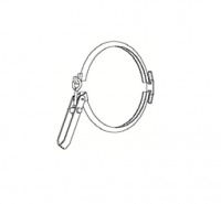 "Hutchinson Spouting & Accessories - Hutchinson Clamp Bands - Hutchinson - 8"" Hutchinson Quick Connect Flange Clamps"