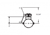"""8"""" Hutchinson Commercial Rack & Pinion Control"""