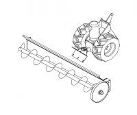 Hutchinson Commercial Klean Sweep Accessories - Hutchinson 1012 Series Accessories - Hutchinson - Hutchinson Tractor with 3Ph 208-230/460V Explosion Proof Motor for 1012 Series