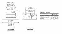 "8"" Hutchinson Standard Duty Loop Conveyors - 8"" Hutchinson Inlet Dump Hoppers - Hutchinson - 42 1/2"" x 6' Hutchinson Inlet Dump Hopper - Safety Screen for 8"" Loop System"