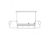 "8"" Hutchinson Standard Duty Loop Conveyors - 8"" Hutchinson Bin Well Components - Hutchinson - Hutchinson 8"" Inlet Hopper"
