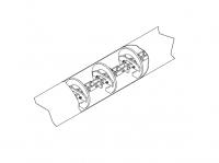 "10"" Hutchinson Standard Duty Loop Conveyors - 10"" Hutchinson Tube Conveyor Sections - Hutchinson - 40' Hutchinson Tube Conveyor Section for 10"" System"