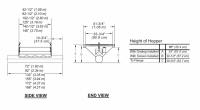 "10"" Hutchinson Standard Duty Loop Conveyors - 10"" Hutchinson Inlet Dump Hoppers - Hutchinson - 42 1/2"" x 6' Hutchinson Inlet Dump Hopper with Safety Screen for 10"" Loop System"