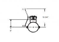"""10"""" Hutchinson Rack & Pinion Control with 18"""" Travel for 15"""" Floors"""
