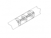 "16"" Hutchinson Commercial Duty Loop Conveyors - 16"" Hutchinson Commercial Tube Conveyor Sections - Hutchinson - 30' Hutchinson Tube Conveyor Section for 16"" Commercial Loop System"
