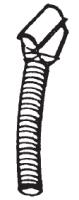 "Hutchinson Spouts and Bucket Assemblies - 10"" Hutchinson Spouts and Bucket Assemblies - Hutchinson - 10"" Hutchinson 45° Metal Discharge Spout w/ 3' Flexible Metal Tubing"