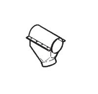 "Hutchinson Stationary Screw Conveyor Accessories - 10"" Hutchinson Stationary Screw Conveyor Accessories - Hutchinson - 10"" Hutchinson 60° Plastic Discharge Spout"