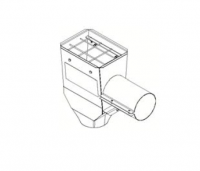 "Hutchinson Stationary Screw Conveyor Accessories - 10"" Hutchinson Stationary Screw Conveyor Accessories - Hutchinson - 10"" Hutchinson Hopper Tail Piece with Enclosed Slide Gate"