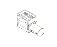 "Hutchinson Stationary Screw Conveyor Accessories - 10"" Hutchinson Stationary Screw Conveyor Accessories - Hutchinson - 10"" Hutchinson Hopper Tail Piece with Slide Gate"