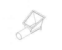 "Hutchinson Stationary Screw Conveyor Accessories - 10"" Hutchinson Stationary Screw Conveyor Accessories - Hutchinson - 10"" Hutchinson Roof Auger Hopper with Cleanout"