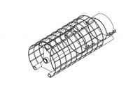 "Hutchinson Stationary Screw Conveyor Accessories - 14"" Hutchinson Stationary Screw Conveyor Accessories - Hutchinson - 14"" Hutchinson Intake Guard with Bearing"