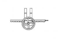 "Hutchinson Stationary Screw Conveyor Accessories - 14"" Hutchinson Stationary Screw Conveyor Accessories - Hutchinson - 14"" Hutchinson Rack & Pinion Control"