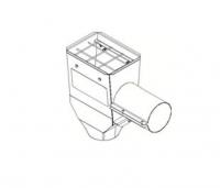 "Hutchinson Stationary Screw Conveyor Accessories - 8"" Hutchinson Stationary Screw Conveyor Accessories - Hutchinson - 8"" Hutchinson Hopper Tail Piece with Enclosed Slide Gate"