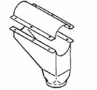 "Hutchinson Stationary Screw Conveyor Accessories - 4"" Hutchinson Stationary Screw Conveyor Accessories - Hutchinson - 4"" Hutchinson 90° High Capacity Intermediate Drop"