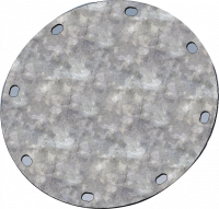 "RIPCO Distribution Flanges & Plates - RIPCO Distribution Round Flat Plates - RIPCO Distribution - 10"" RIPCO Distribution 8GA Galvanized Round Flat Plate"