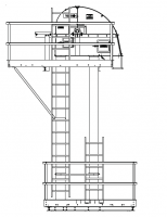 "Shop By Capacity - 3,500 - 6,000 BPH Bucket Elevators - MFS/York - MFS/York 3,500 BPH Bucket Elevator with 9"" x 6"" Buckets on 6"" Spacing"