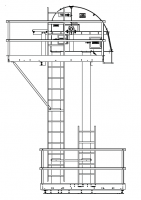 "Shop By Capacity - 3,500 - 6,000 BPH Bucket Elevators - MFS/York - MFS/York 4,500 BPH Bucket Elevator with 12"" x 7"" Buckets on 9"" Spacing"