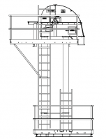 "Shop By Capacity - 6,000 - 8,500 BPH Bucket Elevators - MFS/York - MFS/York 8,000 BPH Bucket Elevator with 12"" x 8"" Buckets on 9"" Spacing"