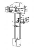 "Honeyville  - Honeyville 15,000 BPH Model 66-40 Bucket Elevator with 16"" x 7"" Double Row Buckets"
