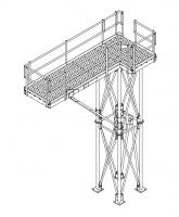 Grain Pump Loop Conveyors - Brownie Supports for Grain Pump Loop Systems - Brownie Systems - Brownie Loadout Platform for Grain Loop System