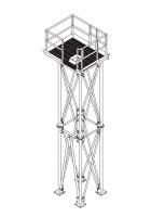 Grain Pump Loop Conveyors - Brownie Supports for Grain Pump Loop Systems - Brownie Systems - Brownie Welded Platform for Grain Loop System