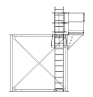 Brownie Systems - Brownie Support Towers - Brownie Systems - Brownie T2 Support Tower Ladder Package with Platform