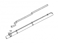 "Hutchinson Standard Bin Unload Accessories - 10"" Hutchinson Standard Bin Unload Accessories - Hutchinson - 10"" Hutchinson Drive Shaft Extension Kit"