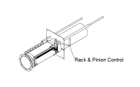 "10"" Hutchinson Standard Bin Unload Parts - 10"" Hutchinson Bin Wells & Accessories - Hutchinson - 10"" Hutchinson Rack & Pinion Control for Power Sweep"