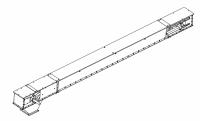 """Flat/Horizontal Drag Conveyors - MFS/York Flat/Horizontal Drag Conveyors - MFS/York - 8"""" x 10"""" MFS/York Drag Conveyor D835"""