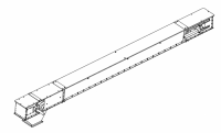 "Flat/Horizontal Drag Conveyors - MFS/York Flat/Horizontal Drag Conveyors - MFS/York - 21"" x 10"" MFS/York Drag Conveyor"