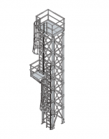 Sentinel Building Systems - Sentinel Supports for Grain Pump Loop Systems - Sentinel Building Systems - Sentinel Eclipse Ladder & Cage Assemblies