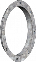 "RIPCO Distribution Flanges & Plates - RIPCO Distribution Angle Rings - RIPCO Distribution - 16"" RIPCO Distribution Round Black Angle Ring"