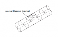 "Hutchinson Flighting & Accessories - Hutchinson Bearings - Hutchinson - 1"" Hutchinson Internal Bearing Bracket for 6"" Auger"