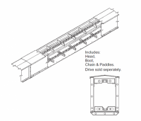 "13"" Hutchinson Mass-Ter Flow Drag Conveyor - 13"" Hutchinson Mass-Ter Flow Sections - Hutchinson - 13"" x 10' Hutchinson Mass-Ter Flow Drag Conveyor Section"