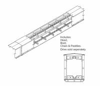 "13"" Hutchinson Mass-Ter Flow Drag Conveyor - 13"" Hutchinson Mass-Ter Flow Sections - Hutchinson - 13"" x 25' Hutchinson Mass-Ter Flow Drag Conveyor Section"