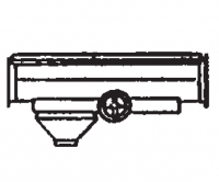 Hutchinson Model 50 Mass-Ter Mover - Hutchinson Model 50 Mass-Ter Mover Parts - Hutchinson - Hutchinson Intermediate Outlet w/ Rack & Pinion Control for Model 50