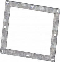 "RIPCO Distribution Flanges & Plates - RIPCO Distribution Square Flanges - RIPCO Distribution - 8"" RIPCO Distribution 3/16"" GA Black Square Flange"