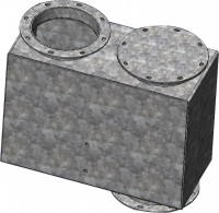 """RIPCO Distribution Dead Boxes - RIPCODistribution 90° Fixed Angle Dead Boxes - RIPCO Distribution - 6""""RIPCODistribution 10GA 90° Fixed Angle Dead Box"""