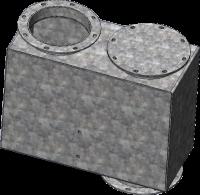 """RIPCODistribution Dead Boxes - RIPCODistribution 90° Fixed Angle Dead Boxes - RIPCO Distribution - 8""""RIPCODistribution 10GA 90° Fixed Angle Dead Box"""