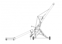 """Hutchinson Swing-Away Augers - 10"""" Hutchinson Swing-Away Augers - Hutchinson - 10"""" X 72' Hutchinson Swing-Away Gear Drive Auger"""