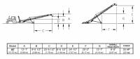 Hutchinson Squeeze Belt Conveyors - Hutchinson Squeeze Belt Conveyors - Electric - Hutchinson - 45' Hutchinson Portable Squeeze Belt Conveyor - Electric