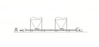 66' Hutchinson Horizontal Custom Belt Conveyor