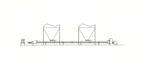 96' Hutchinson Horizontal Custom Belt Conveyor
